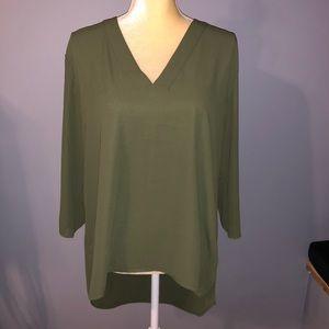 EXPRESS Olive Green Dress Top